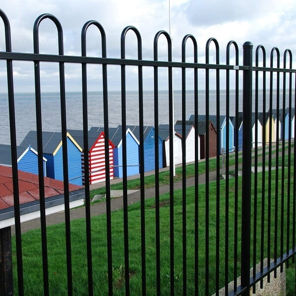 Metal Bowtop Fence