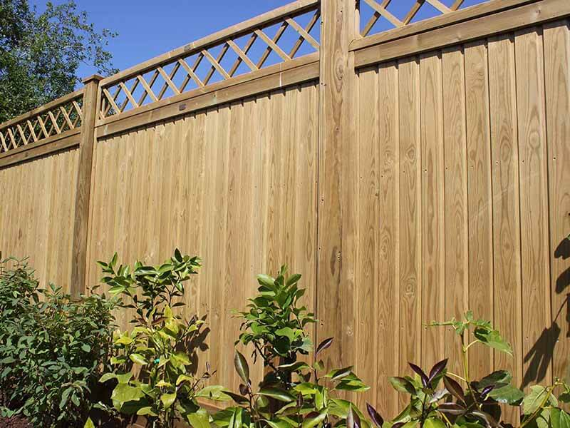 What is the height of the fence 18