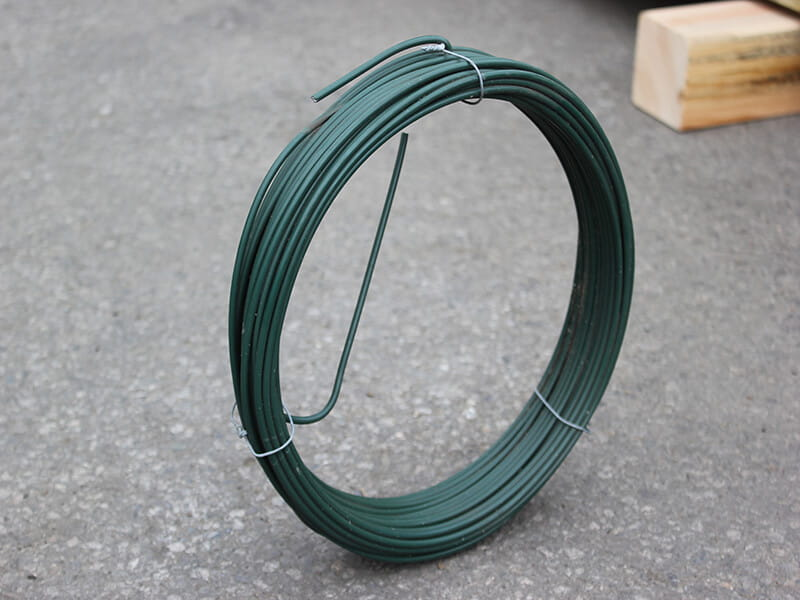 green plastic coated fencing wire