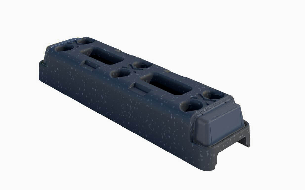 Plastic express temporary fencing foot